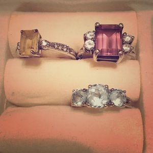 lot of jewelry-sterling 925 rings